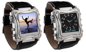 Luxury 2GB MP4 OLED Digital Leather Band Wristwatch (16.59КиБ)