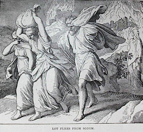 Лот с родственниками бежит из Содома (71.00КиБ)