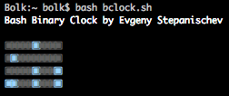 Bash Binary Clock (9.50КиБ)