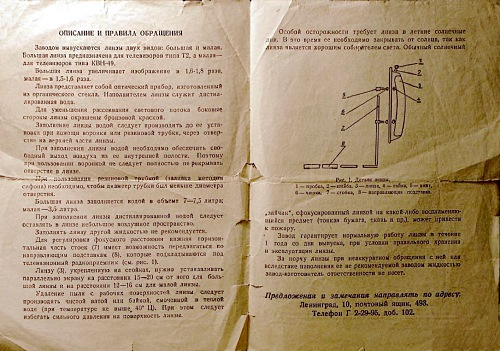 Инструкция к линзе (138.72КиБ)